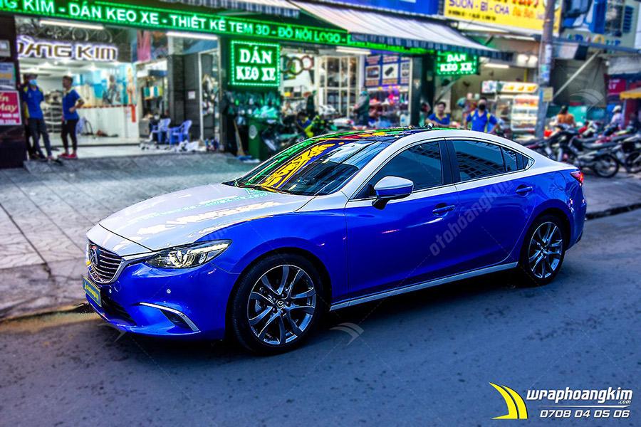 Dán đổi màu Candy xanh Mazda 6