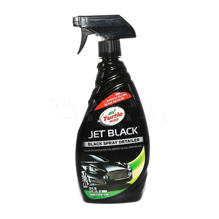 Dung dịch bảo dưỡng Turtle Wax Jet Black xịt làm bóng sơn xe màu đen 680ml