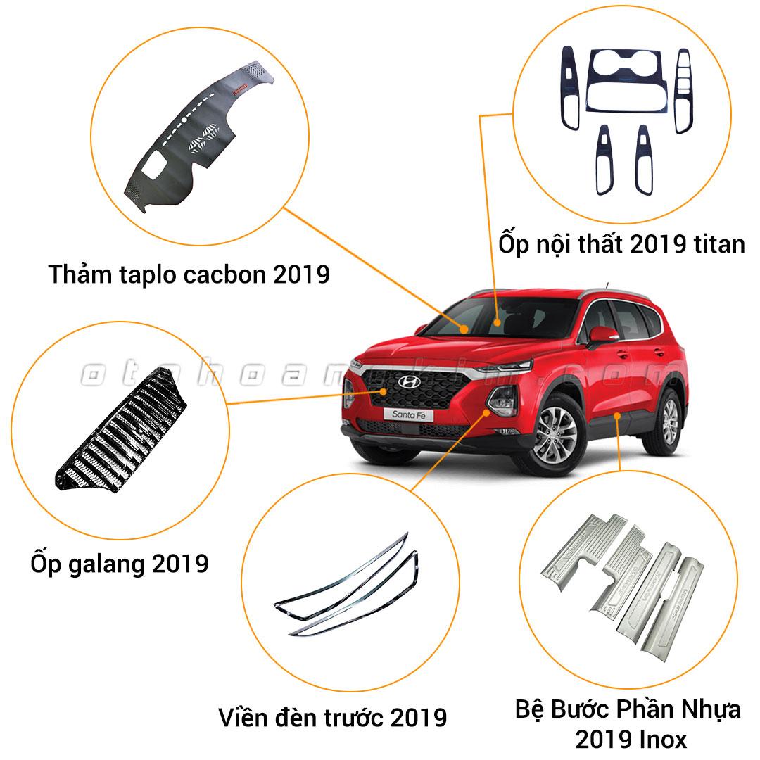 10 phụ kiện xe Santafe [2019-2020]