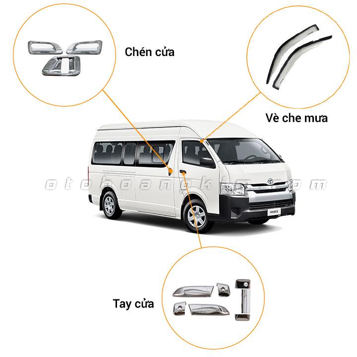 6 phụ kiện xe Toyota Hiace [2007-2020]