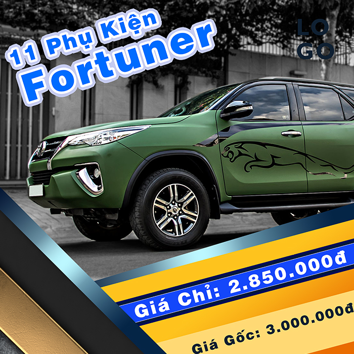 11 Phụ kiện xe Fortuner [2009-2016]