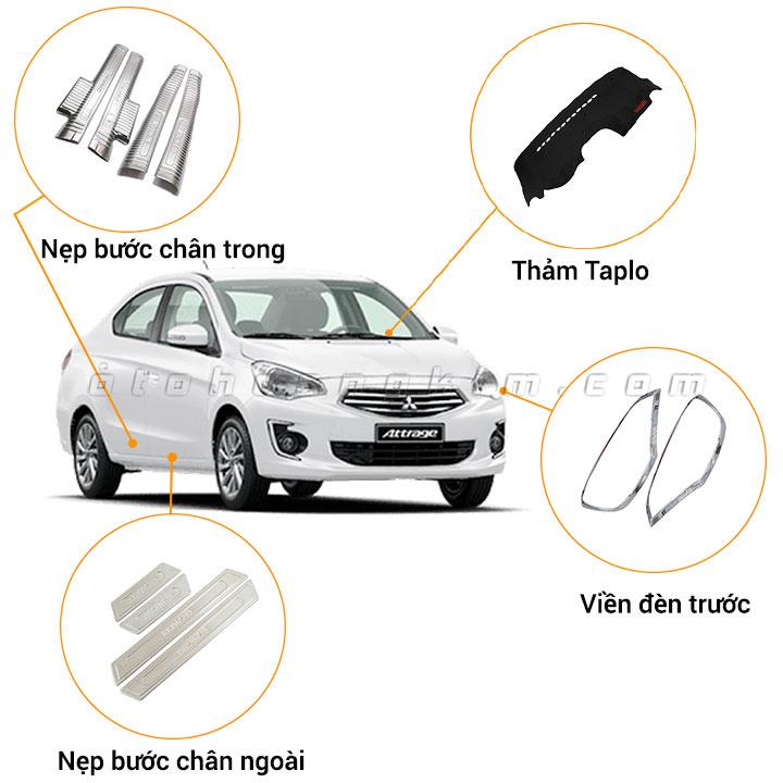 10 phụ kiện xe Mitsubishi Attrage [2015-2020]
