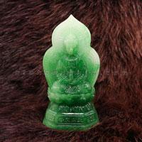 Tượng Phật Vàng Quan Âm cẩm thạch