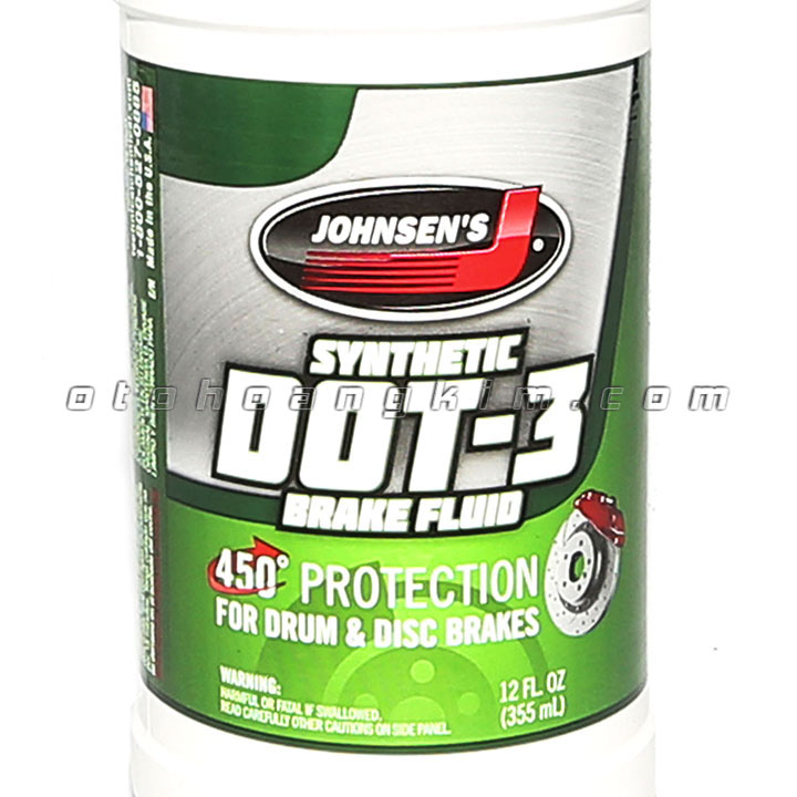 Dung dịch bảo dưỡng Johnsens Synthetic Dot-3 Brake Fluid dầu thắng 355ml