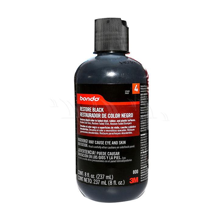 Dung dịch bảo dưỡng 3M Bondo Restore Black Restauradoor De Color Negro phục hồi nhựa đen 237ml