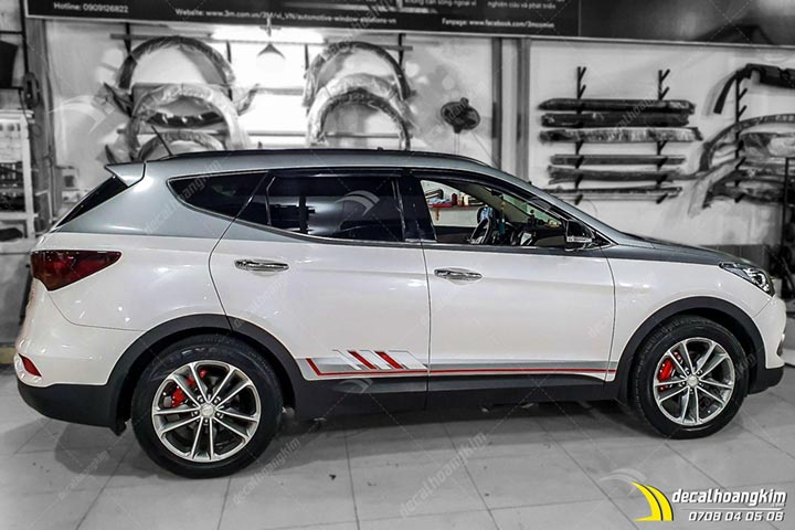 Tem Xe Hyundai Santafe - HSA016