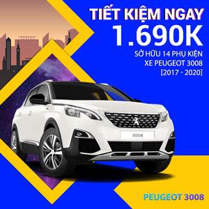 14 phụ kiện xe Peugeot 3008 [2017-2020]