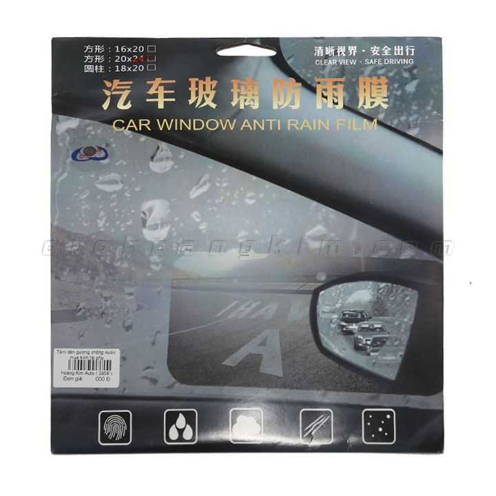 Miếng dán chống nước mưa gương ô tô tài phụ