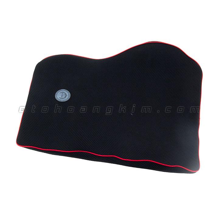Gối lưng GL01 cao su non lớn đen