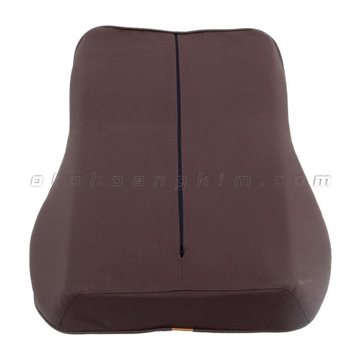 Gối lưng GL01 cao su non lớn nâu