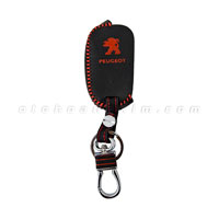 Bao móc khóa da Peugeot chìa bật