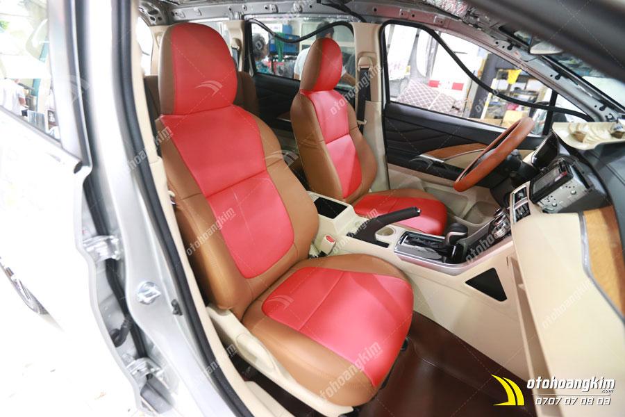 Bọc ghế da cho xe Misubishi Xpander tại trung tâm chăm sóc ô tô Bình Dương của Hoàng Kim
