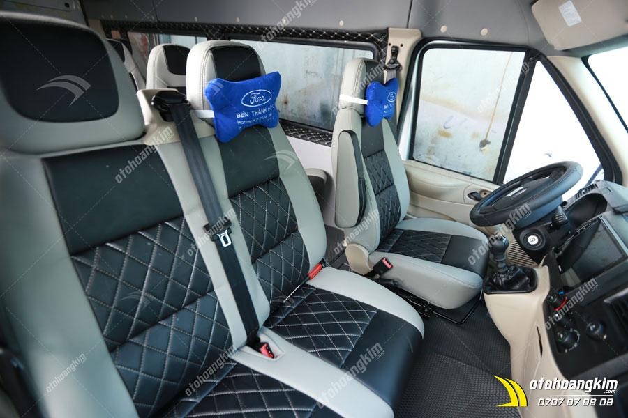 Bọc ghế da cao cấp cho Ford Transit tại Ô tô Hoàng Kim