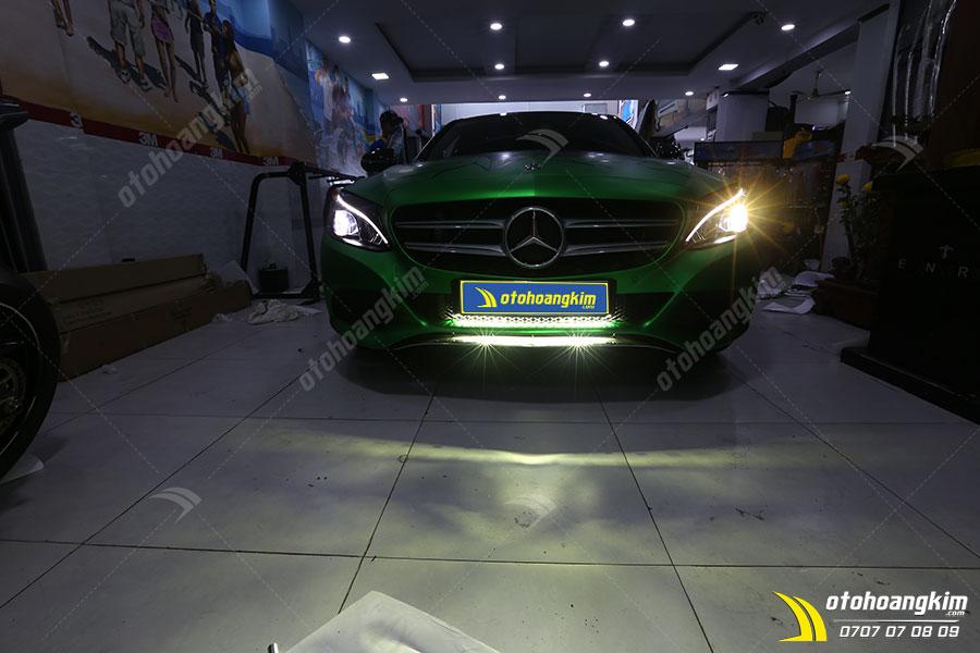 Độ đèn xe Mercedes cao cấp