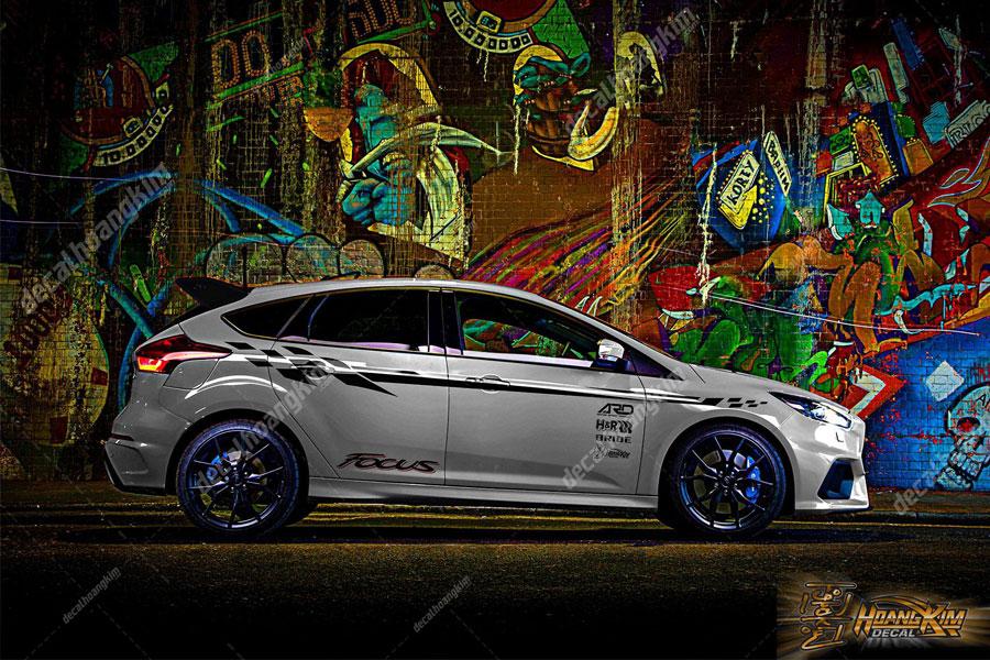 Demo mẫu tem xe Ford Focus đẹp xuất sắc