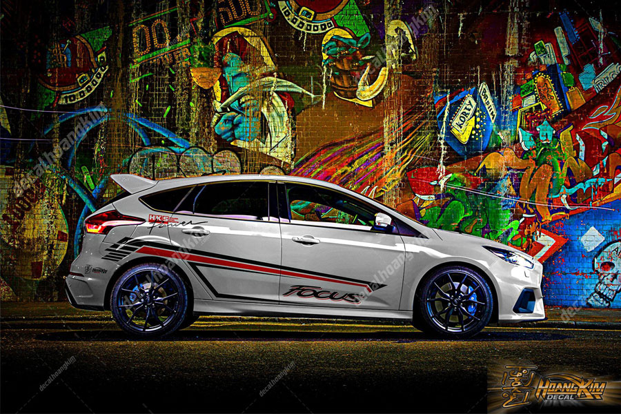 Thiết kế mẫu tem xe Ford Focus cá tính