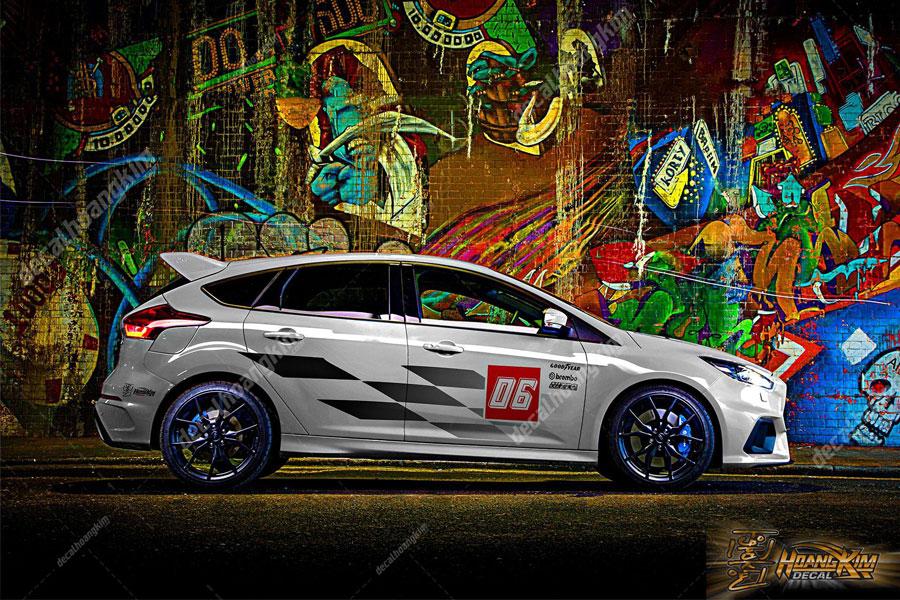 Tem xe Ford Focus với thiết kế độc đáo