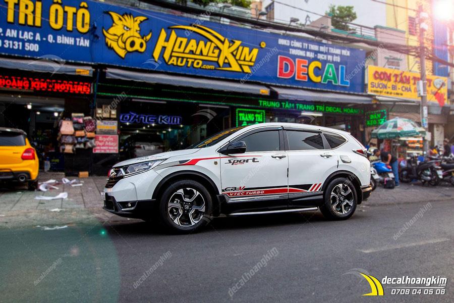 Lên mẫu tem xe Honda CRV đơn giản cho khách