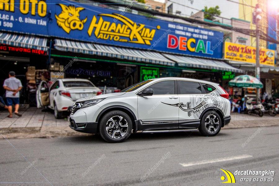Tem xe Honda CRV lịch lãm sang trọng