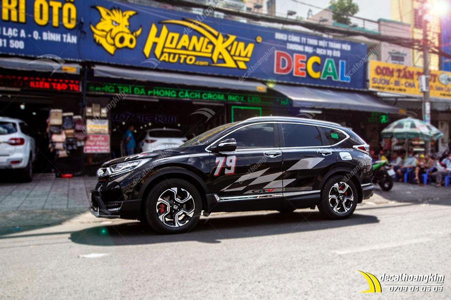 Tem xe Honda CRV đen huyền sang trọng