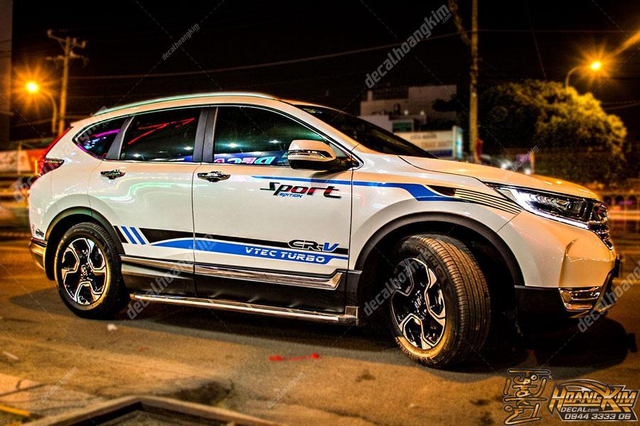 Tem xe Honda CRV sport thẩ thao