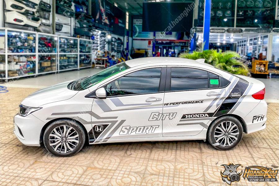 Lên mẫu tem xe Honda City hoành tráng nhất đầu năm 2021
