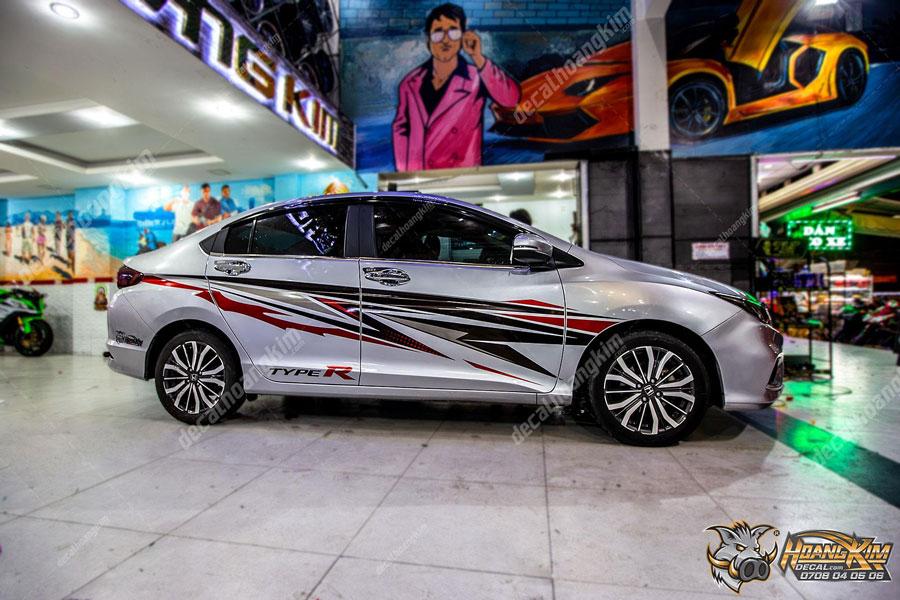 Mẫu tem xe Honda City năng động