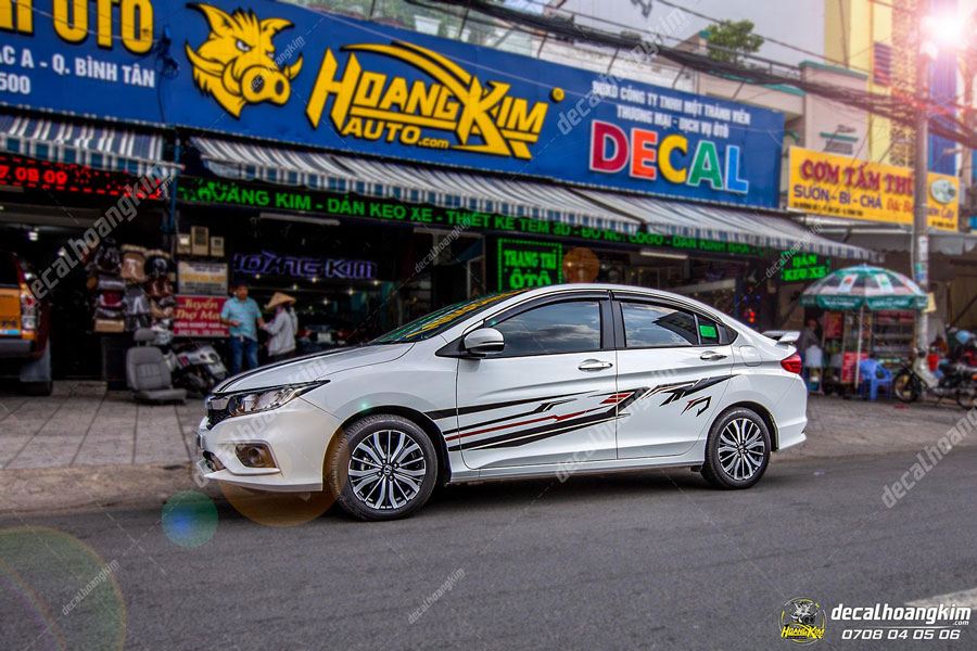 Lên mẫu tem xe Honda City thể thao