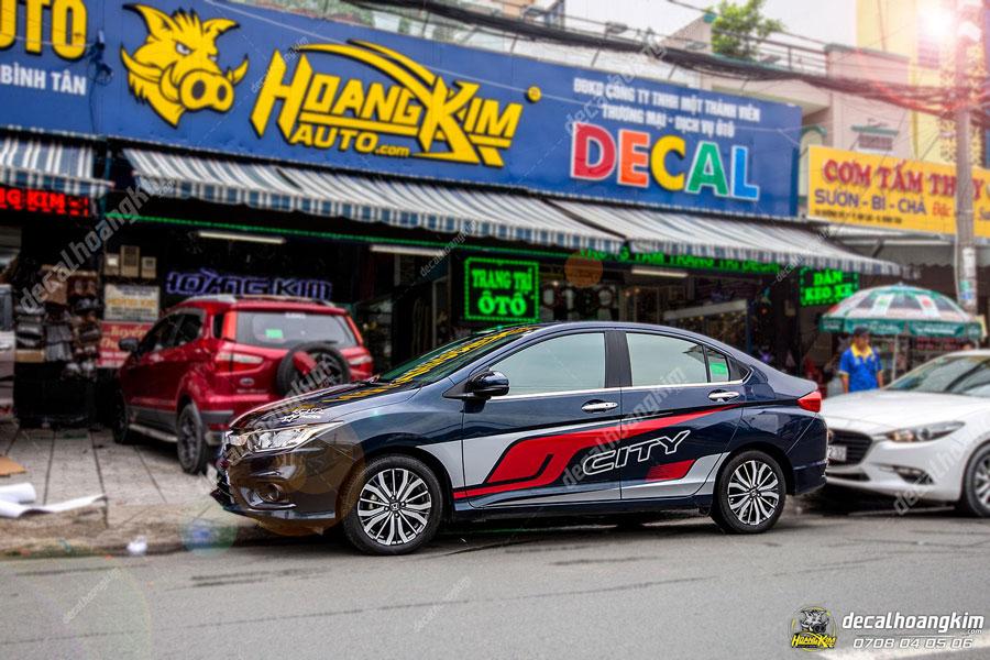 Mẫu tem xe Honda City nổi bật