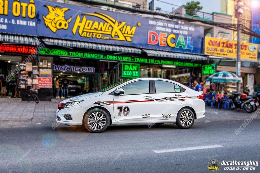 Tem xe Honda City hoạ tiết cực đẹp