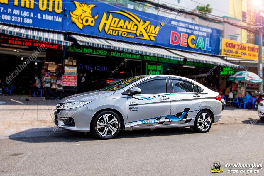 Tem xe Honda City họa tiết đơn giản