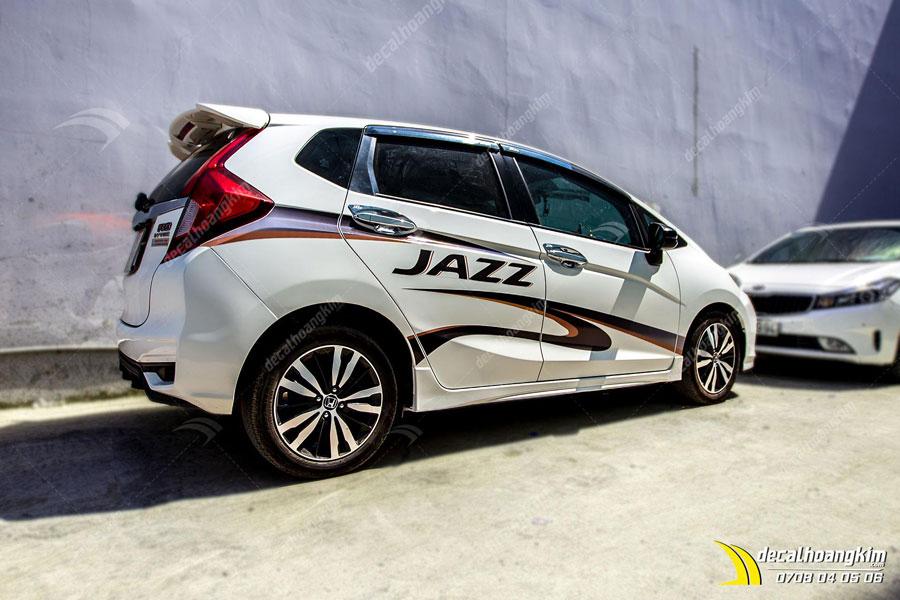 Tem xe Honda Jazz siêu chất siêu hiện đại