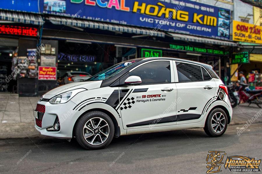Tem xe Hyundai I10 cực tinh tế sắc xảo