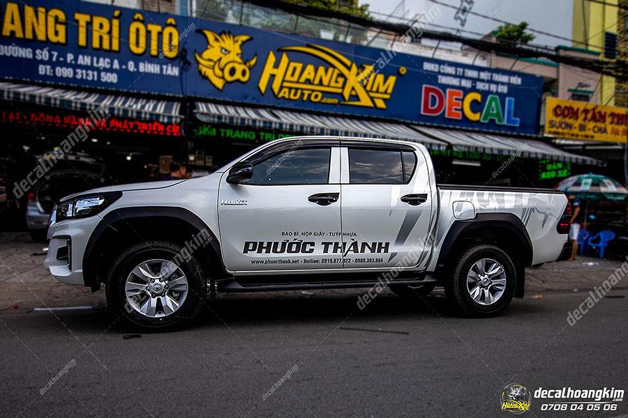 Mẫu tem xe Toyota Hilux đơn giản thể thao