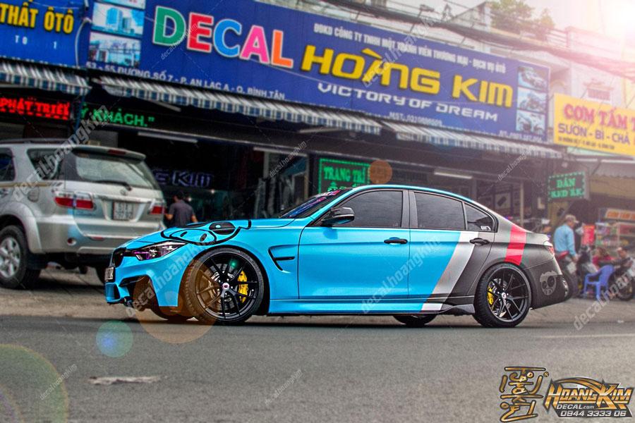 Dán đổi màu toàn bộ tem xe BMW đã được đăng ký giấy tờ trước