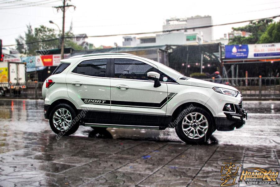 Lên mẫu tem xe Ford Ecosport đơn giản