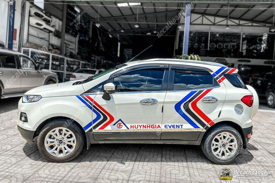 Mẫu tem xe Ford Ecosport họa tiết đơn giản bắt mắt