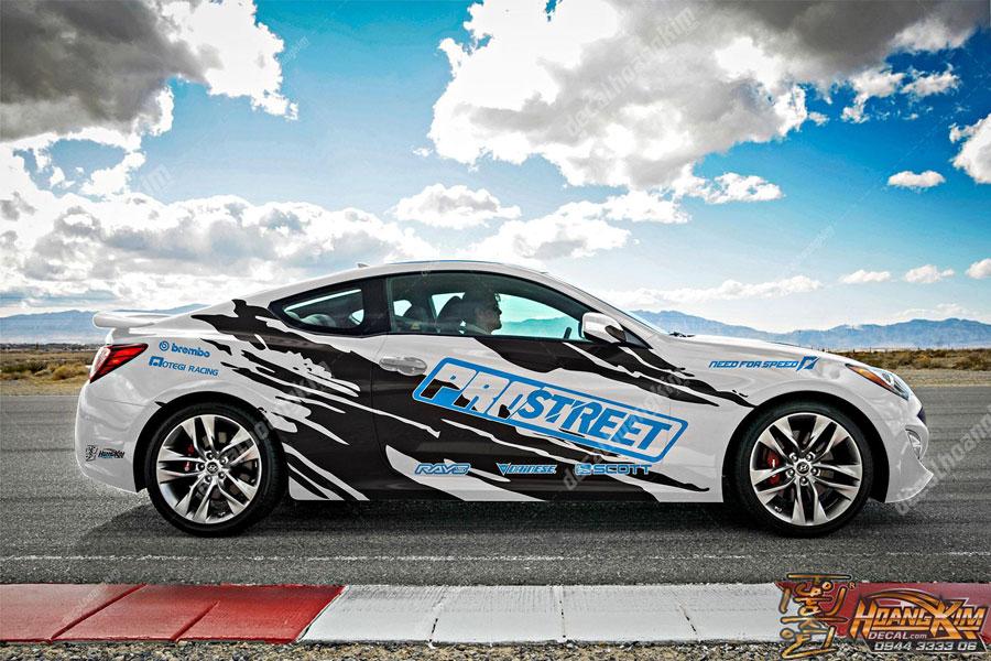 Decal tem xe Hyundai Genesis cực chất