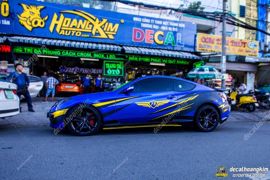 Decal tem xe Hyundai Genesis siêu chất chơi