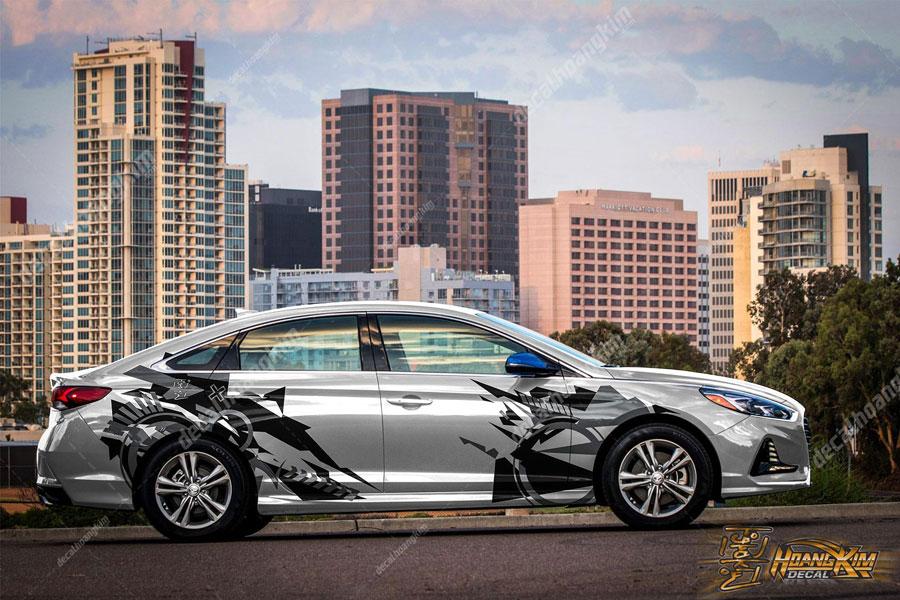 Họa tiết chất lừ cho mẫu tem xe Hyundai Elantra