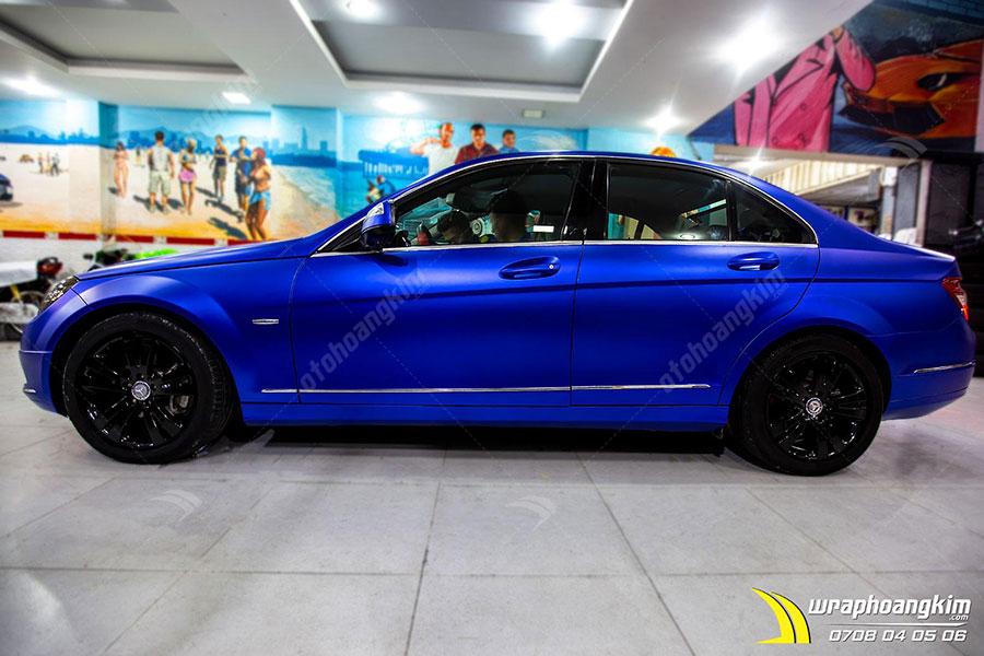 Dán đổi màu xanh mờ Mercedes C200