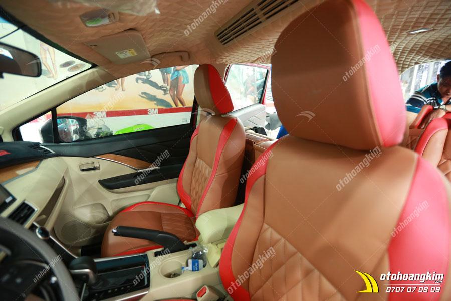 Chiếc Vios được bọc ghế da ô tô