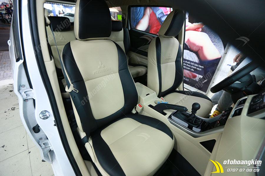 Bọc ghế simili cho xe Xpander mẫu trắng đen cá tính