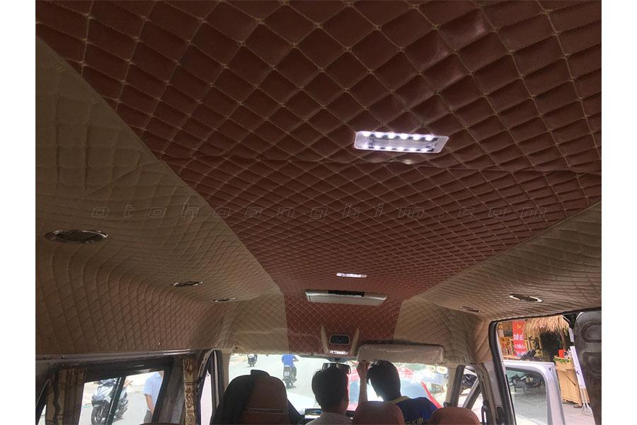 Bọc trần 5D cho Ford Transit tại Hoàng Kim