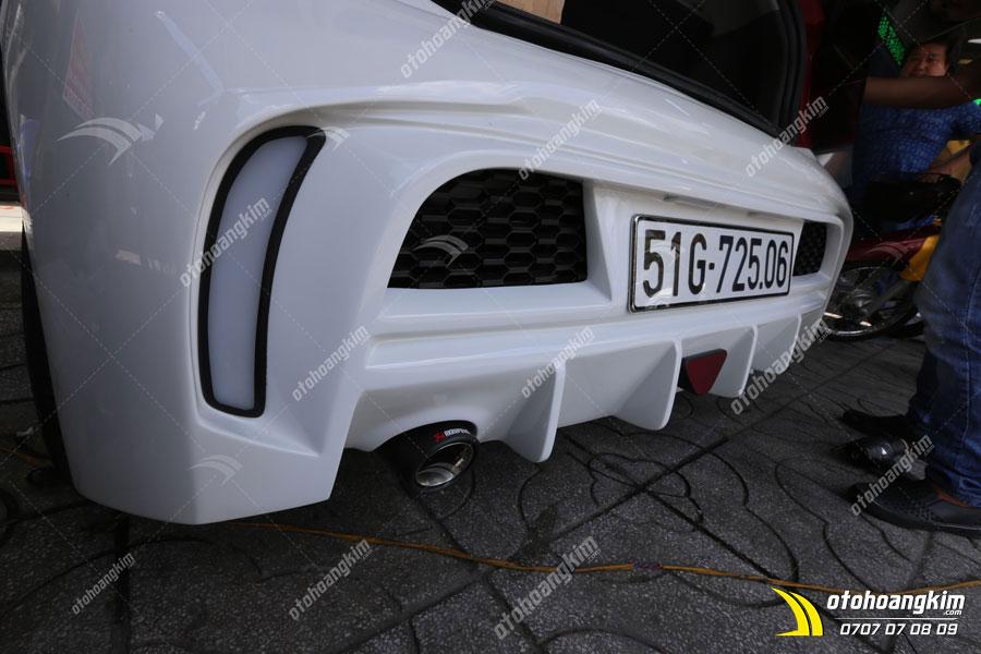 Lắp body kit ô tô Kia Morning phần cản sau