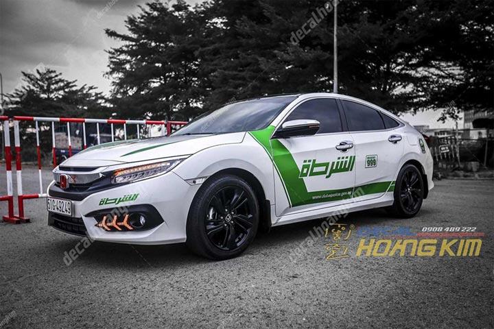 TEM XE HONDA CIVIC POLICE DUBAI -   HCV002