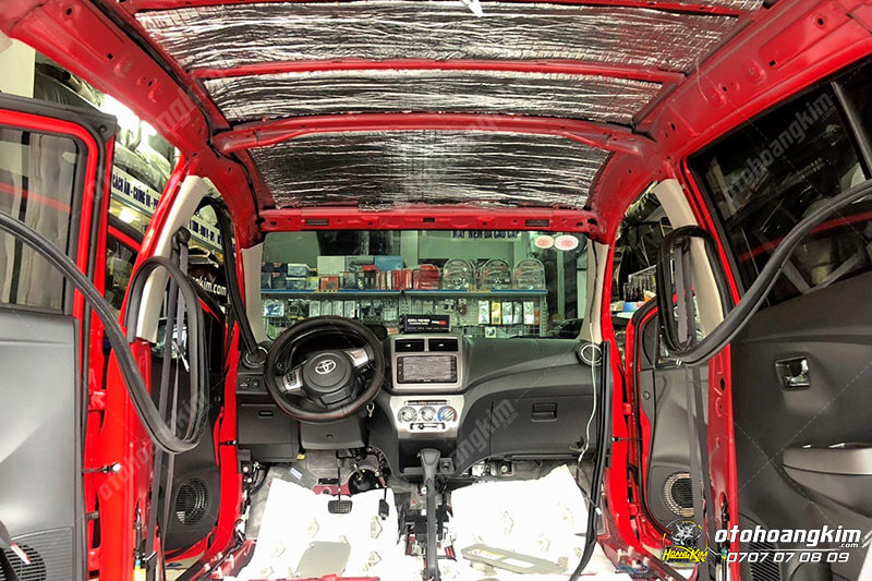 Cách âm chống ồn cho Toyota Wigo