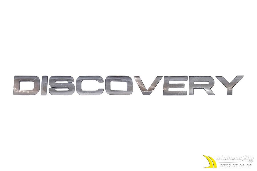 Đồ trang trí xe hơi - chữ nổi Discovery trắng