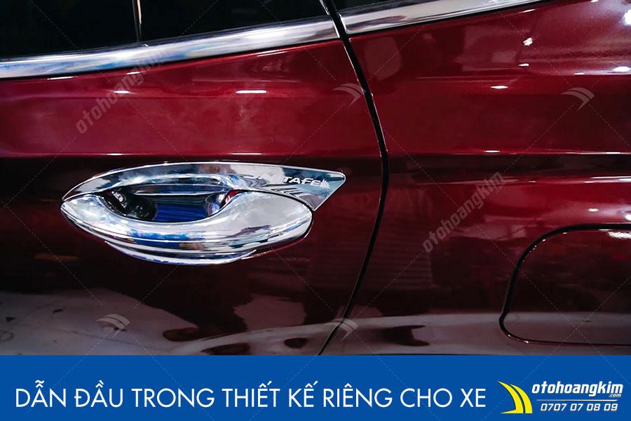 Cửa hít tự động Hyundai Santafe quy trình lắp đặt hoàn toàn không ảnh hưởng đến nguồn điiện của xe