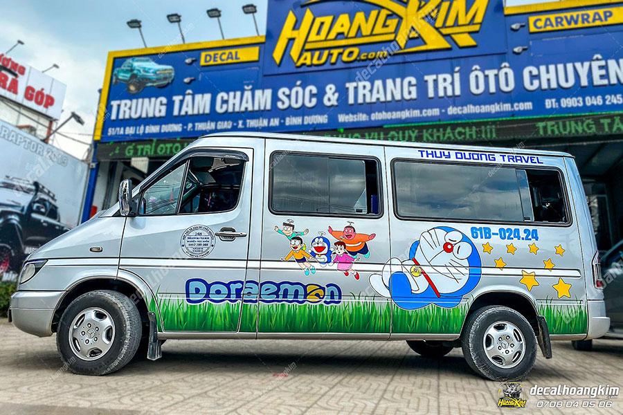 Dán decal - tem xe ô tô Mercedes Sprintertại Ô Tô Hoàng Kim chi nhánh Tp.HCM và Bình Dương